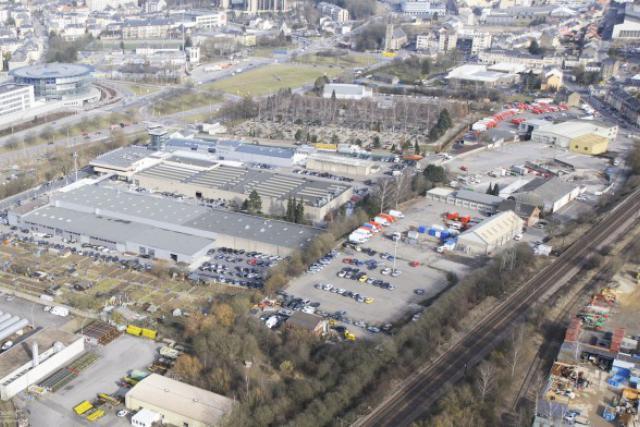 Le vaste site de Hollerich, amené à devenir un écoquartier, un village du futur. (Photo : Stoldt Associés)