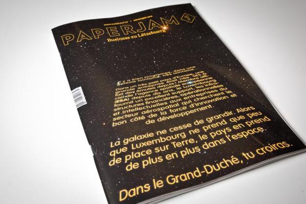 Une édition novembre de Paperjam1 très spatiale. (Photos: Maison Moderne Studio)