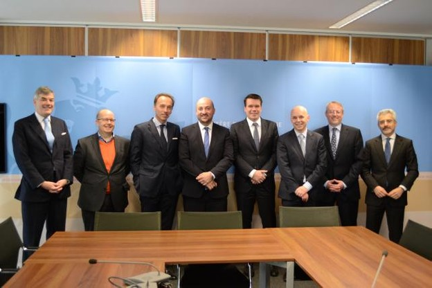 L'ICT Seed Fund est né sous les auspices de Guy Harles (Arendt & Medernach), Marco Houwen (High Capital), Hugues Delcourt (Bil), Étienne Schneider, ministre de l'Économie, Claude Strasser (Post Capital), Koen Van Parys (Proximus), Patrick Nickels (SNCI) et Karim Michel Sabbagh (SES). (Photo: MECO)