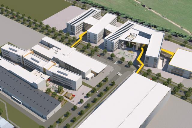 La société IEE, spécialisée dans les composants automobiles sensibles de sécurité, transférera ses locaux à Roost en 2018. (Illustration: Belvedere Real Estate)