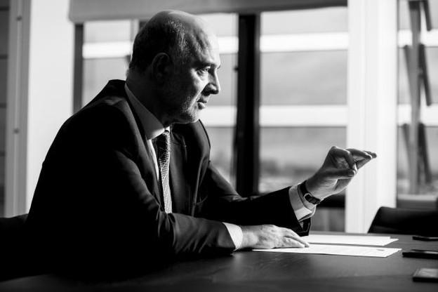 Hommage: Pour Moscovici, Jean-Claude Juncker est un «homme-pont», un Européen dans la lignée des Pères fondateurs. (Photo: Anthony Dehez)