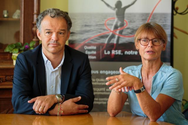 Michel Reckinger et Marianne Donven plaident pour un assouplissement des procédures d'embauche des réfugiés. (Photo: Matic Zorman)