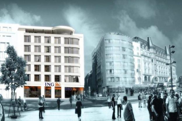 Immobel est présent dans le projet de la galerie Kons qui abritera le nouveau siège d'ING dans le quartier Gare de Luxembourg début 2017. (Visuel: M3 Architectes)
