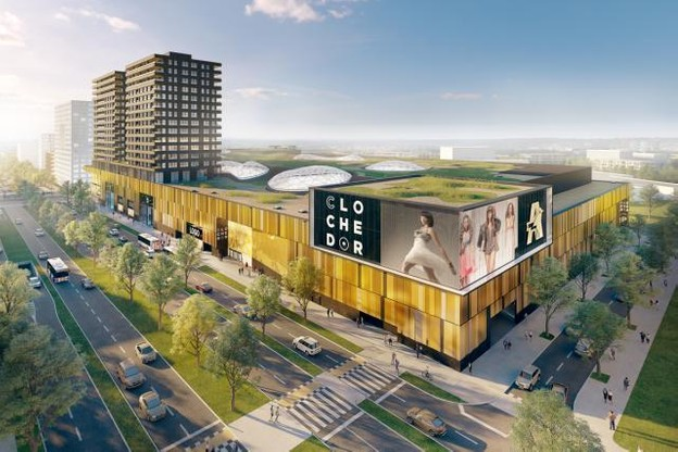 Le centre commercial de la Cloche d'Or est un des projets phares de Ceetrus. (Illustation : Fabeck Architectes)