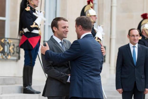La rencontre entre le Premier ministre luxembourgeois et le candidat Macron a été officialisée jeudi, alors que les deux hommes se sont rencontrés officiellement cette fois-ci quelques heures plus tard. (Photo: SIP - Charles Caratini)