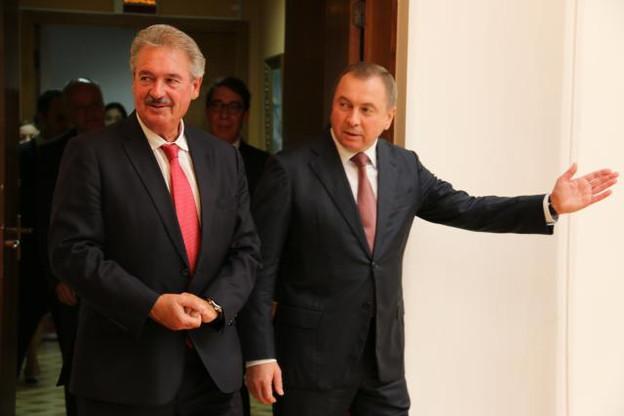 Jean Asselborn est en visite ce mercredi à Minsk, ici aux côtés de son homologue biélorusse Vladimir Makeï. (Photo: Ministère des Affaires étrangères et européennes)
