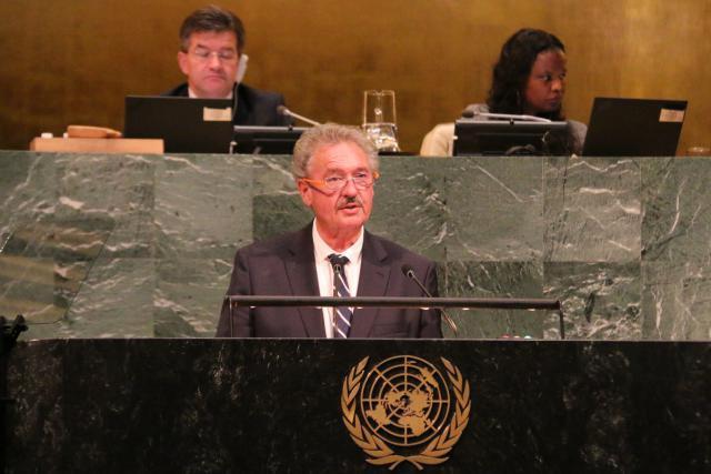 À la tribune de l'ONU, Jean Asselborn a insisté sur l'importance du multilatéralisme «qui constitue le fondement des Nations Unies». (Photo: SIP)