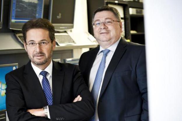 Jean-Paul Neu et Angelo Rossi (Dussmann Services) (Photo : David Laurent/Wide)