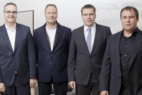 Les trois entrepreneurs fondateurs et Claude Strasser pour 50% misés par Post Luxembourg. (Photo: Join Experience)