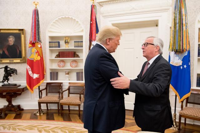 Suite à la visite de Jean-Claude Juncker à Washington, les États-Unis n'imposeront pas l'importation des voitures européennes d'une taxe de 25% supplémentaire. Du moins pour l'instant. (Photo: EC - Audiovisual Service)