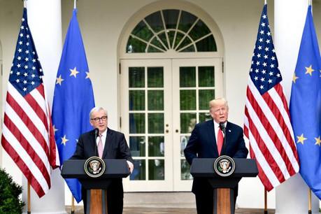 Jean-Claude Juncker a fait retomber la pression, sans pour autant obtenir le retrait du projet de surtaxe des voitures importées aux États-Unis. (Photo: Commission européenne/Services audiovisuels)
