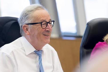 Jean-Claude Juncker durant la réunion hebdomadaire des commissaires européens, le mercredi 18 juillet. (Photo: Commission européenne/Services audiovisuels)