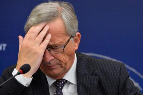 Jean-Claude Juncker lors de la conférence de presse qui a suivi son discours devant le Parlement européen le 15 juillet. (Photo: Parlement européen)