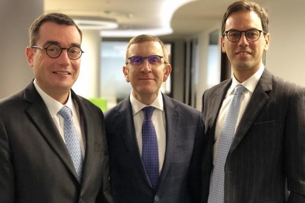 Jean-François Jacquet, Stefan Van Geyt et Ilario Attasi ont commenté leurs prévisions2019. (Photo: KBL epb)