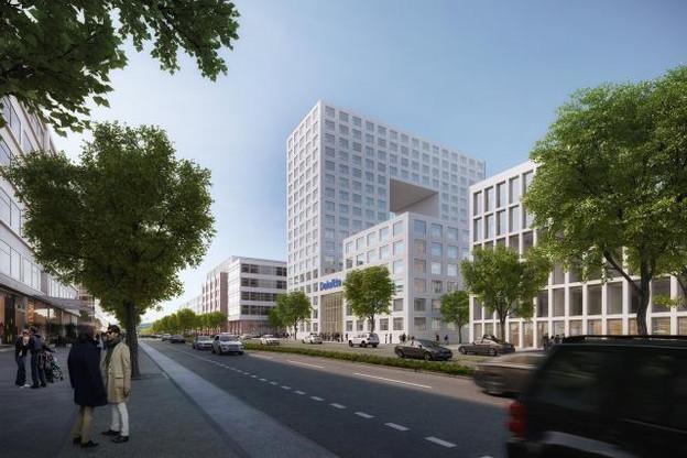 L'immeuble de Deloitte tel qu'il se présentera en 2018. (Photo: Grossfeld PAP/Paul Bretz Architecte)