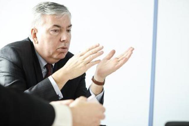 Vincent Rouaix, président-directeur général du groupe informatique GFI (Photo: David Laurent/Wide)