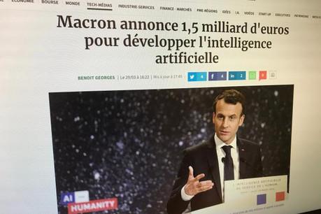 La France souhaite devenir une référence mondiale dans le domaine de l'intelligence artificielle. (Photo: DR)