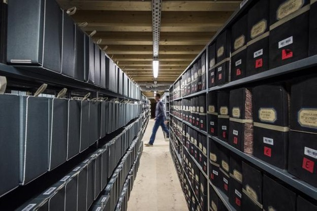 La justice compte 8km de rayonnages auprès des Archives nationales. (Photo: Mike Zenari)