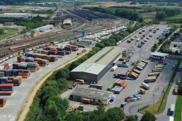 Le terminal multimodal de Bettembourg, l'une des plateformes centrales de la logistique luxembourgeoise. (Photo: CFL)