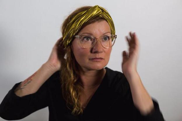 Karolina Markiewicz explique «Sublimation», projet de VR sélectionné à la Mostra de Venise. (Photo: Markiewicz-Piron)