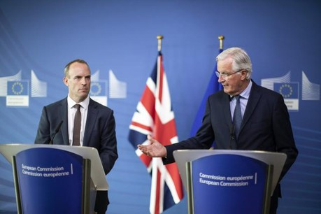 Dominic Raab et Michel Barnier se retrouveront déjà la semaine prochaine. (Photo: Commission Européenne)