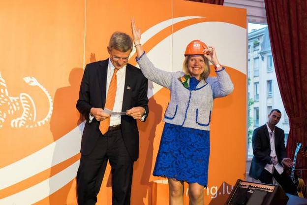 Il reviendra à la nouvelle CEO de conduire la fin du chantier du nouveau siège de la banque, face à la gare. (Photo: Marion Dessard)