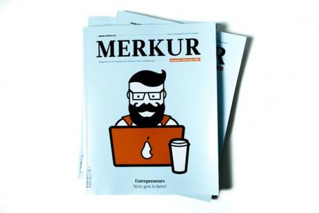 Croquis d'une nouvelle génération d'entrepreneurs en couverture de l'édition novembre/décembre de Merkur. (Photos: Maison Moderne Studio)