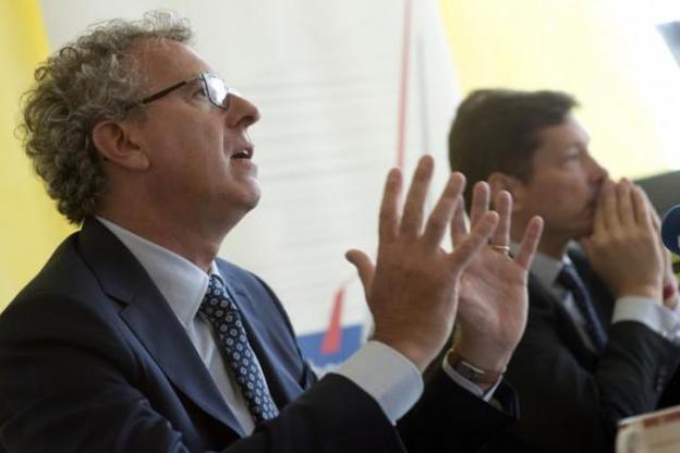 Au siège de la House of finance, Pierre Gramegna a voulu fixer le cap des prochains mois pour la promotion de la Place. (Photo: Christophe Olinger)