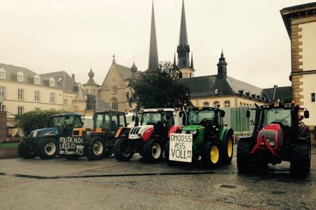 Les agriculteurs avaient déjà manifesté leur mécontentement mardi dernier dans les rues de la capitale luxembourgeoise. (Photo: DR)