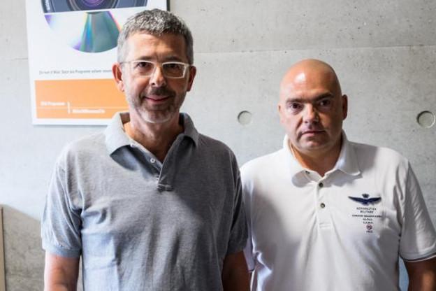 Serge de Cillia (ABBL) et Roberto Scolati (Aleba) étaient les invités de 100,7 ce week-end, dans Riicht eraus. (Photo: 100.7)