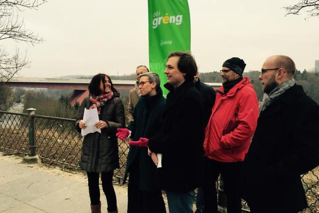 La section Déi Gréng de la Ville de Luxembourg a présenté ses candidats têtes de liste au parc du centre-ville. (Photo: paperJam / DR)