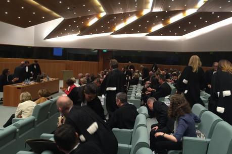 Pour la première fois, la grande salle du tribunal de l'UE accueillait la rentrée du Barreau de Luxembourg. (Photo: DR)