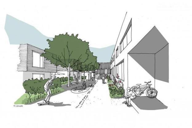 Le projet phare de la SNHBM se situe à Elmen. (Illustration: SNHBM / Dewey Muller / Stéphanie Laruade)
