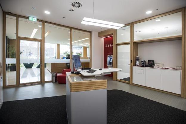 La nouvelle Agence Leudelange qui fait partie des agences rattachées au Centre Financier Gasperich. (Photo: Spuerkeess)