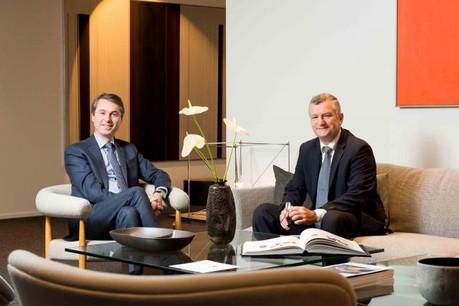 Serge Cammaert et Philippe Havaux, aux commandes de la banque Delen Luxembourg. (Photo: Banque Delen)