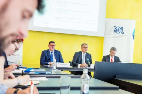 Pour sa première présentation des résultats annuels en tant que président de l'ABBL, Guy Hoffmann a martelé la nécessité de «changements»dans le secteur bancaire. (Photo: Lala La Photo)