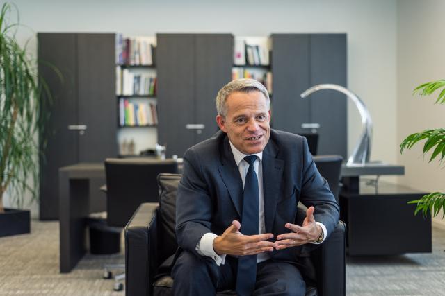 Le président de l'ABBL, Guy Hoffmann, plaide pour une action soutenable des banques de la Place. (Photo: Mike Zenari)