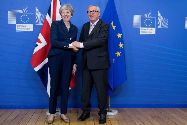 Samedi, Theresa May, Première ministre britannique, avait déjà rencontré le président de la Commission européenne, Jean-Claude Juncker, pour finaliser d'ultimes détails concernant l'accord. Dont la question de Gibraltar. (Photo: Commission européenne/Services audiovisuels)