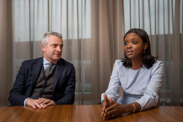 Olivier Coekelbergs et Aïssata Coulibaly. (Photo: Nader Ghavami)