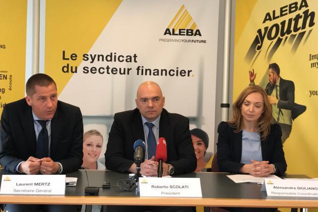 Pour Laurent Mertz, Roberto Scolati et Alessandra Giuliano, la situation syndicale de la Place est jugée «très difficile», malgré «un contexte de reprise». (photo: paperJam)