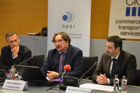 Jean Diederich, le président de l'Apsi, ici entre Marc Payal (vice-président) et Renaud Le Squeren (administrateur), plaide pour la mise en place d'une véritable infrastructure de Place qui implique tous les acteurs ICT.  (Photo: Apsi)
