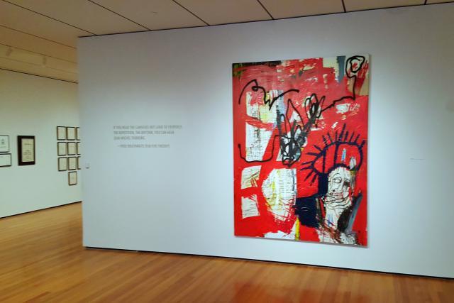 «Untitled», l'une des œuvres de l'artiste contemporain Jean-Michel Basquiat, exposée au Cleveland Museum of Art. (Photo: Licence CC)