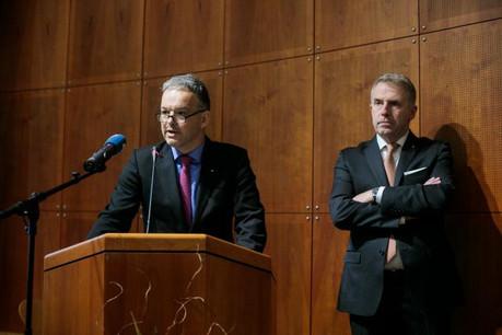 L'aménagement de nouveaux zonings d'activité et l'accès des PME au foncier font partie des dossiers que Michel Reckinger (à gauche) et Tom Oberweis (à droite) veulent remettre sur la table. (Photo: Matic Zorman)