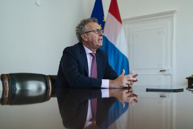 Pierre Gramegna devra ménager à la fois les dirigeants d'entreprise et les électeurs potentiels… (Photo: Sven Becker / Archives)