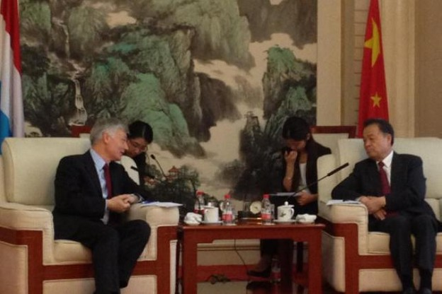 Les ministres des Transports luxembourgeois et chinois. (Photo: Zhou Wanwen)