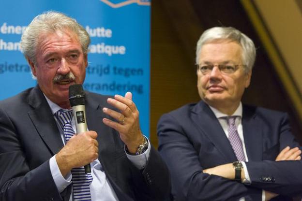 Jean Asselborn et Didier Reynders ont renoué un souhait commun de voir la coopération entre les trois pays être marquée par du concret. (Photo: Jean-Christophe Verhaegen / SIP)