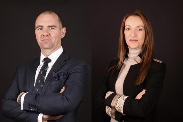Mark Shaw, responsable à Londres, et Samia Rabia, responsable du nouveau bureau à partir de Luxembourg. (Photo: Wildgen)