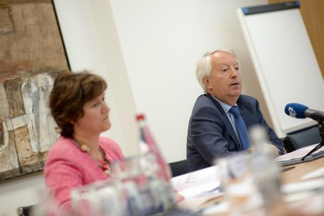 Annick Felten et Claude Wirion forment le duo du comité de direction du Commissariat aux assurances. (Photo: Christophe Olinger)