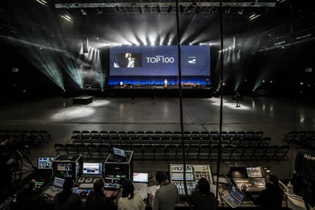 Les répétitions générales se sont terminées en début d'après-midi. La cérémonie du Top100 débutera à 18h à la Rockhal. (Photo: Jan Hanrion / Maison Moderne)