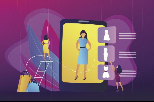 Le concept développé par Carlings est simple: s'habiller virtuellement. (Illustration: Shutterstock)